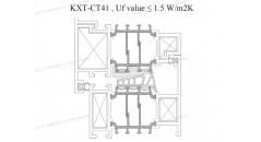 Термическое, Uf 1 . 5 K / м2К, алюминиевая рама окна, решения для оконной рамы из алюминия